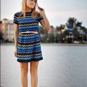 Missoni Target Chevron Sweater Short Sleeve Dress